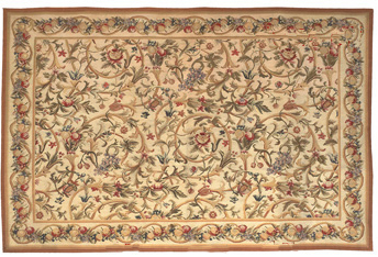 floral rug wayfair rugs aubusson elegance wool tufted area french hand keyword ivory
